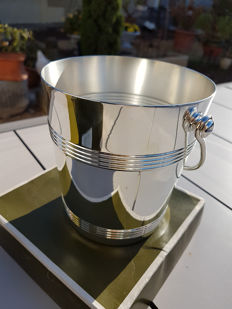 """""""luc lanel"""" ice bucket, new/mint condition, never used, in its Christofle box"""