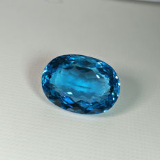 Swiss Blue Topaz - 26.90 ct