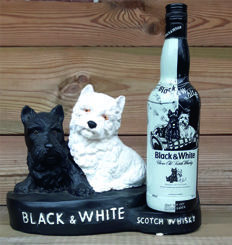 Beautiful large Black & White Whisky statue XXL