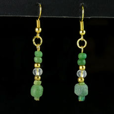 Earrings with Roman glass beads - jewellery box included