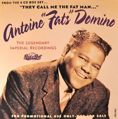 Fats Domino 4 CD Boxset Complete With CD Promo Not For Sale & CD Single + 45tr Fanclub Single