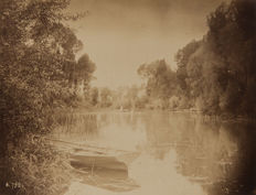 Unknown (XIX) - Lake Scene at Fontainebleau