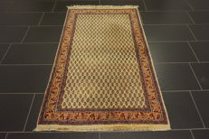 Beautiful hand-knotted oriental carpet, Sarough Mir, 90 x 160 cm, made in India