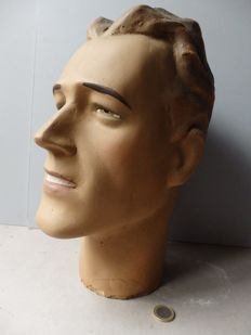 Life-size male shop window bust - France - 2nd half of 20th century