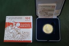 Italy - 10 euro 2009 '400th anniversary of the death of Annibale CARRACCI' - silver