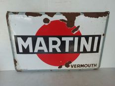 very old enamel martini board - Belgium - 1934.