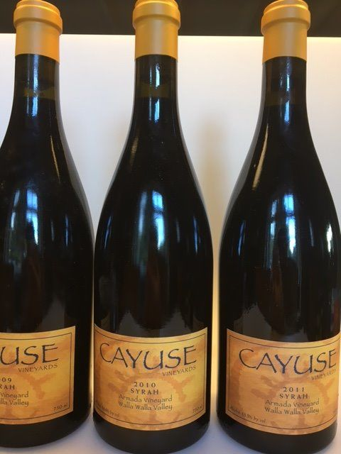 "2009, 2010 and 2011 Cayuse Syrah ""Armada Vineyard"", Washington, Walla Walla Valley - 3 bottles (0,75L)"