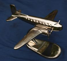 Metal airplane scale model