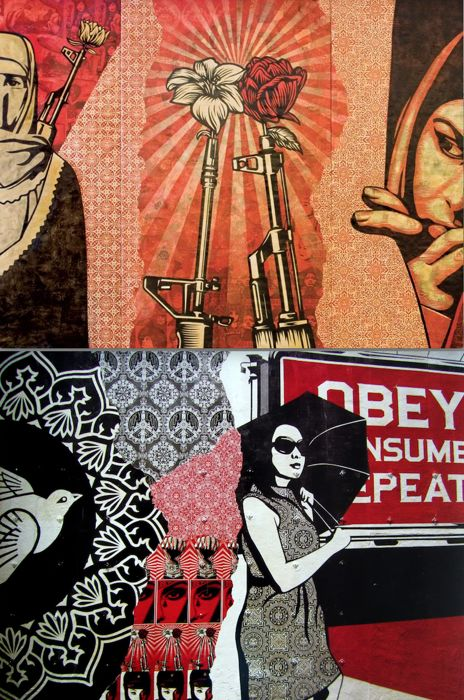 Shepard Fairey (Obey) - Supply & Demand + Viva La Revolucion Prints - 2010