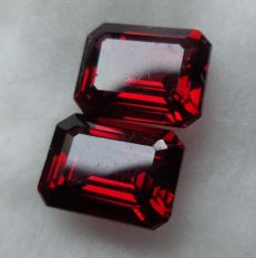 Pair of Rhodolite Garnets – 4.36 ct Total – No Reserve Price
