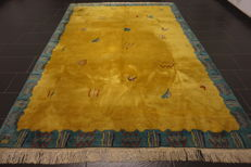Beautiful modern oriental carpet Nepal Tibet, 210 x 300 cm, made in Nepal. Carpet Tappeto, Tapis, Rug, Old, Modern, Tapijt