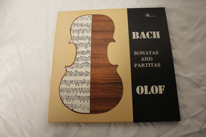 Bach sonatas and Partitas, violin Theo Olof