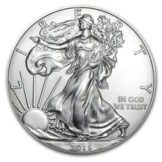 USA - $1 - US Mint - 1 oz 999 silver / silver coin - American silver eagle 2015 - old vintage