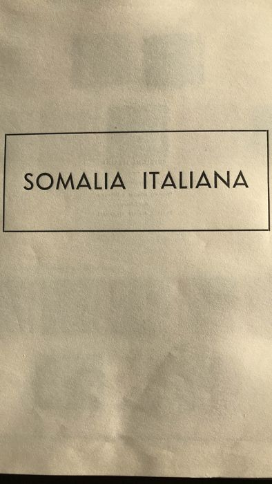 A73 - Italian Colonies - Somalia 1903/1950 - Nearly complete collection including back of book, on Marini album pages