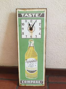 Beautiful enamel advertising sign for Twinkle beverages - 1950s/60s