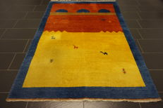 Beautiful handwoven Gabbeh oriental carpet Indo Gabbeh 170 x 250 cm, made in India, Tappeto carpet rug Tapis Tapijt