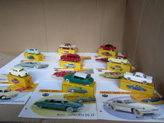Atlas-Dinky Toys - Scale 1/43 - Lot with 8 Franse vintage cars from the years 1955 - 1960
