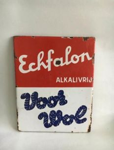 Enamel advertising sign Echfalon wol