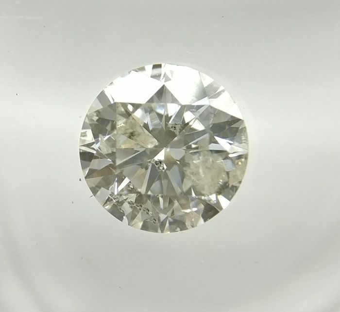 0.69 ct Round cut diamond H I1   -No Reserve