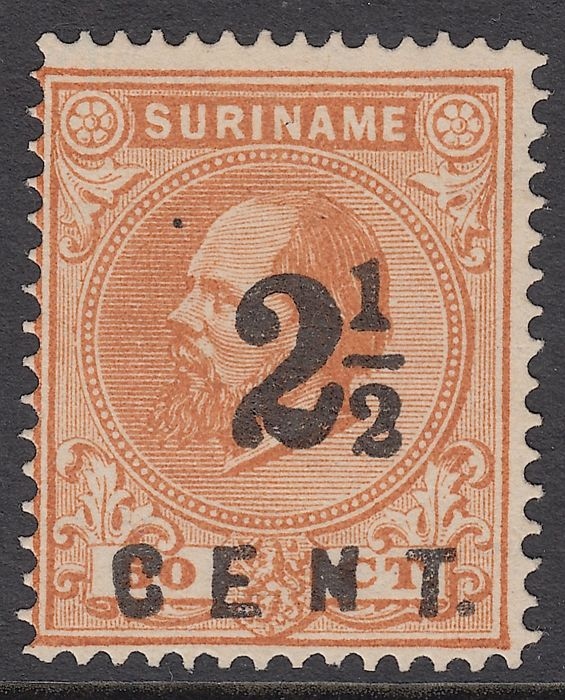 Suriname 1892 - Support issue - NVPH 21B