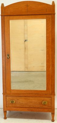 New Art honey oak mirror wardrobe