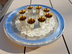 set of liqueur glasses, Christofle brand