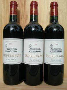 2006 Chateau Lagrange St. Julien, Grand Cru Classe - 3 bottles (0,75 ltr.)