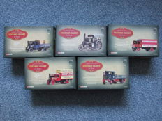 "Corgi - Scale 1/50 - Lot with 5 models from the series ""Vintage Glory of Steam"""