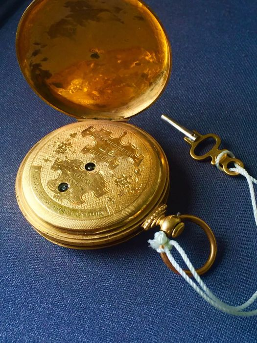 Tobias pocket watch - spring cap with small seconds - collectible watch - 1840