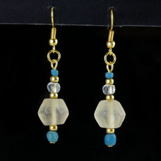 Earrings with Roman glass beads , including jewellery box