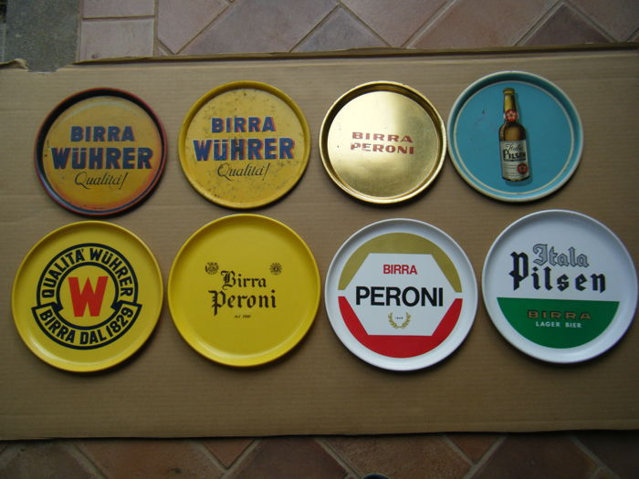 Lot of 8 Beer Bar Tray, 50/60s