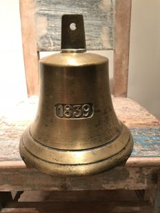 Beautiful old copper large heavy ship's bell