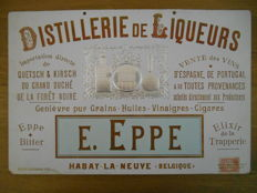 Advertising board for 'Distellerie de Liqueurs' from 1898
