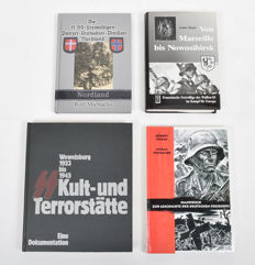 Lot with four books on the Waffen SS, Freikorps and Wewelsburg - 1987/2004
