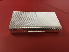 Desktop box in Sterling Silver 925 Guilloche, made in Italy around 1960