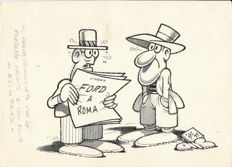 "Jacovitti, Benito - original illustration ""Jak Politik - Ford a Roma"" (1975)"