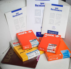 Lot of black & white paper AGFA , KENTEMERE , ILFORD & KODAK