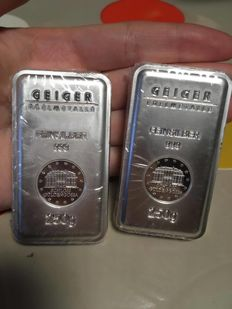 Germany 500 g of silver ingots of the castle of Guldengossa