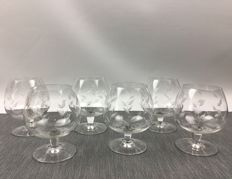 6 old Cognac glasses