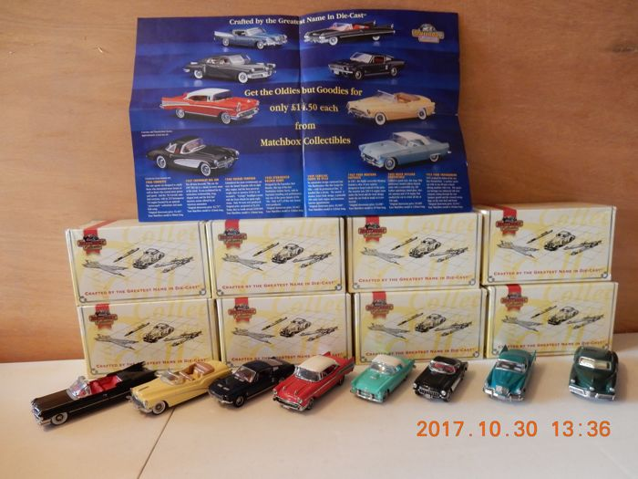 Dinky Toys-Matchbox 1997 - Scale 1/43 - Lot with 8 models: DYG01 to DYG08, the Oldies But Goldies series, part 1
