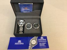 Festina - Festina Chronograph M OS 60 Calendar - Dual Watch (two watches and a strap) - Men's - 2000-2010