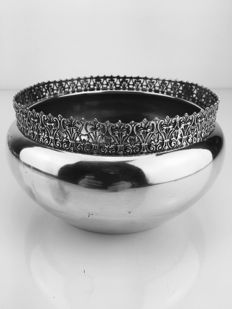 Silver bowl, Italy, 20th century.