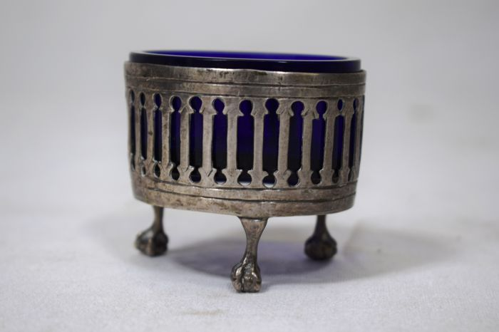 Silver and glass salt shaker - Sicily (Italy) - 18th century