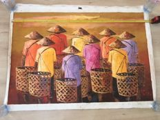 Large painting - Indonesia - 1980/1990