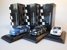 Minichamps - Scale 1/43 - Lot with 3 x Mercedes-Benz 190E 2.3-16 DTM 1988
