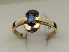 750GOLD ring, sapphire size 53