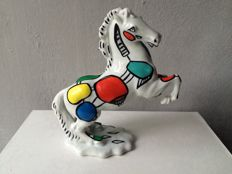 Marianne Bey for Arti 4 - Ceramic horse sculpture  - Coloured Horse - Unica