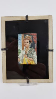 Miniature Painting on Ivory of a lady - India - Late 19th century