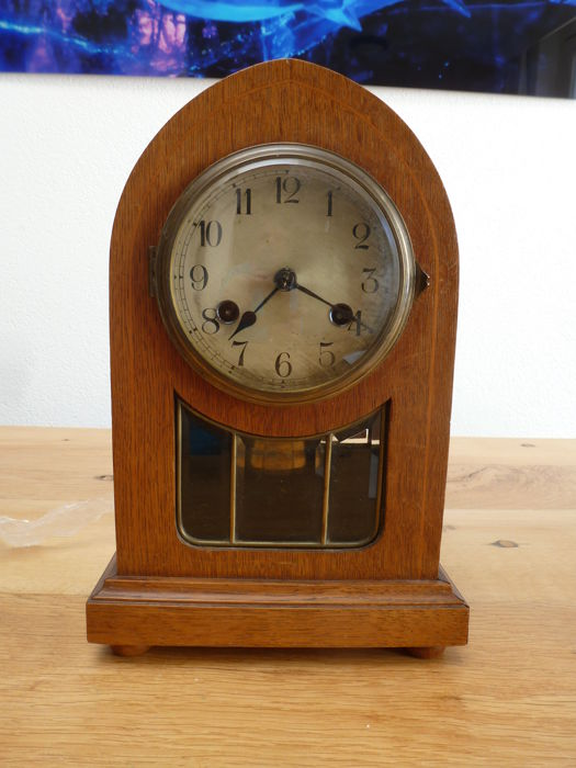 Oak table clock - Art Deco - 2nd half previous century