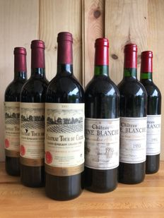 1995 Chateau Tourans Saint-Emilion Grand Cru x 3 bottles and 1995 Reine Blanche , Saint-Emilion Grand Cru x 3 bottles / total 6 bottles